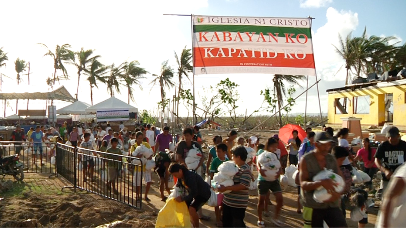 Iglesia Ni Cristo conducts last leg of relief distribution for Yolanda survivors in Hernani, Samar