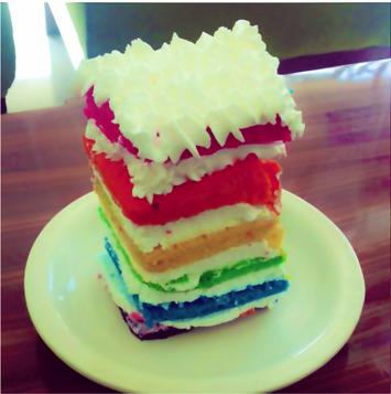 Bacolod Cupcake Cafe's Rainbow Cake