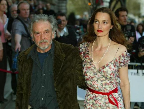 British photographer David Bailey (L) and his wife Catherine Bailey arrive for the opening of the new Saatchi Gallery in London, April 15, 2003. Credit: Reuters/Peter Macdiarmid