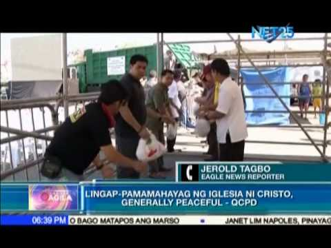 "QCPD says ""Lingap Pamamahayag""  of Iglesia Ni Cristo in Commonwealth was generally peaceful"
