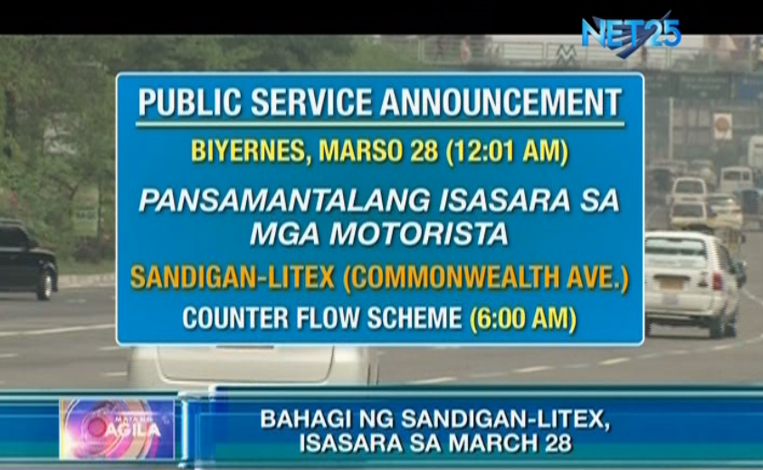 MMDA advises commuters, motorists to take alternate routes in QC; INC Lingap-Pamamahayag to be held today
