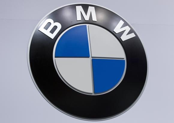 A BMW logo is pictured at the Jacob Javits Convention Center during the New York International Auto Show in New York April 16, 2014.  Credit: Reuters/Carlo Allegri