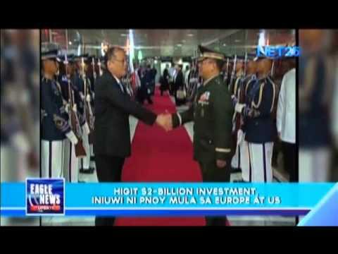 President Aquino brings home $2 billion in investments