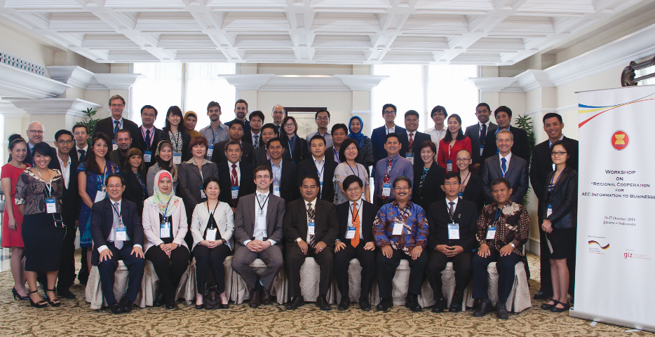 Private and Public Sectors Discuss Regional Cooperation for AEC Information to Businesses. Representatives from the ASEAN SME Agencies Working Group (SMEWG), the ASEAN Secretariat, and private sector bodies at the regional and national/local levels gathered at a workshop in Jakarta on 16-17 October to discuss options for regional cooperation on providing ASEAN Economic Community (AEC) information to businesses. (Courtesy ASEAN Secretariat News)