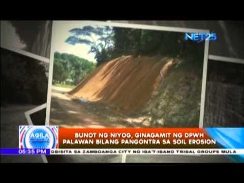 """Agila Probinsya – Bunot ng niyog, ginagamit pangontra sa """"soil erosion"""""""
