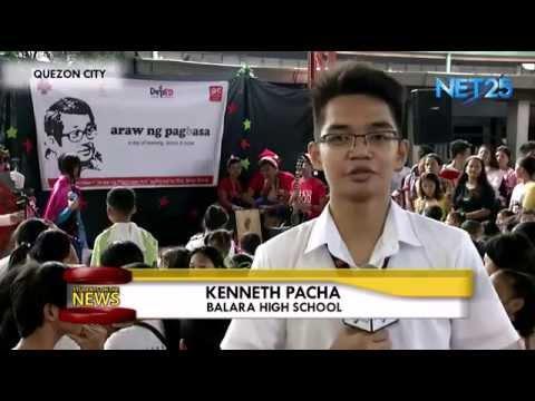 """Students on the News – Balara High School """"Araw ng Pagbasa"""""""