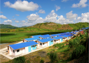 a portion of the iglesia ni cristos evm self sustainable resettlement community in alangalang - Self Sustainable Housing
