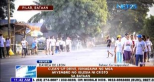 Clean-up Drive, isinagawa ng mga miyembro ng Iglesia Ni Cristo sa Bataan