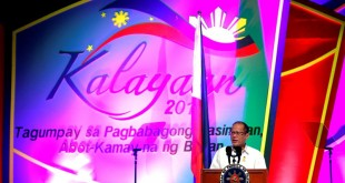 President Benigno S. Aquino III delivers his keynote speech during the Federation of Filipino-Chinese Chambers of Commerce and Industry, Inc. (FFCCCII) and the Filipino-Chinese community's joint celebration of the 117th Philippine Independence Day, 40th Anniversary of Philippines-China Diplomatic Relations and 14th Filipino-Chinese Friendship Day at the Reception Hall of the Philippine International Convention Center (PICC) in Pasay City on Monday (June 08). Every year, FFCCCII and the Filipino Chinese Community celebrate Philippine Independence Day in solidarity with the entire nation in remembering the struggles and victories of our forefathers that culminated in the historic establishment of the First Republic in Asia.