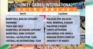 International Unity Games 2015 brings brethren closer