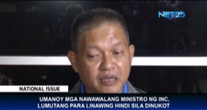 Iglesia Ni Cristo minister Jojo Nemis says he was never kidnapped as alleged by INC's detractors. (Eagle News Service)