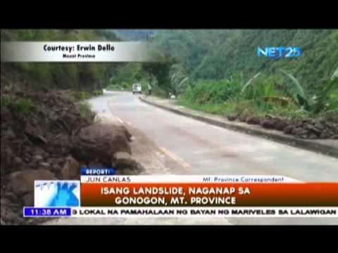 Landslide sa Gonogon, Mt. Province