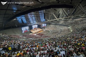 A view from inside the packed 55,000-seater Philippine Arena during the Sept. 26 worldwide evangelical mission of the Iglesia Ni Cristo officiated by INC Executive Minister Bro. Eduardo V. Manalo. The event was beamed live via online video feed to more than 2,000 sites across the globe. (Photo courtesy INC Executive News)