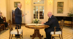 Malcolm Turnbull is sworn in as Australia's 29th Prime Minister