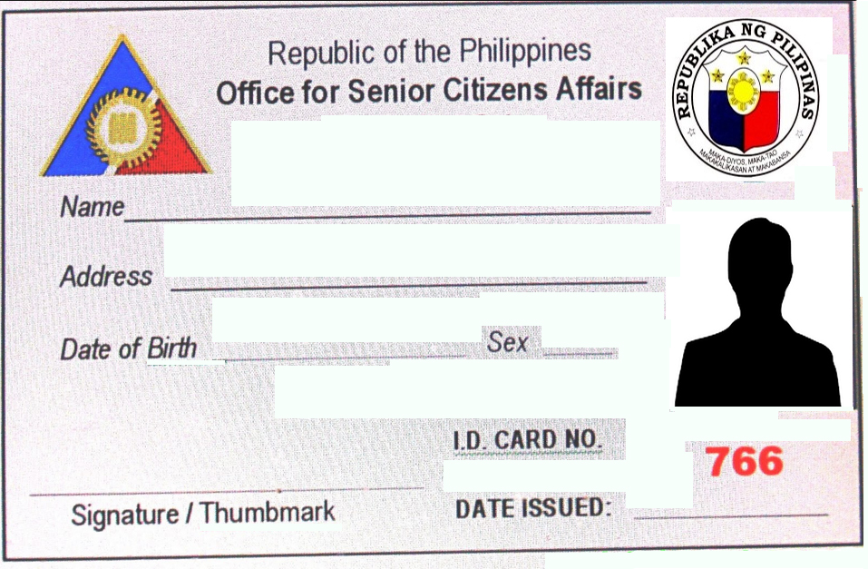 Senior identification card