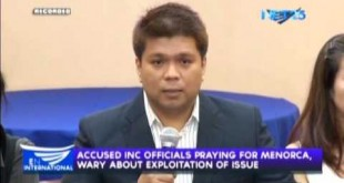 Accused INC officials praying for Menorca, wary about exploitation of issue, says lawyer