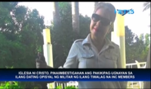 The INC has asked authorities to look into the activities of a former INC member, Bless Grace Ardona, who is said to have links with former military personnel. (Eagle News Service)