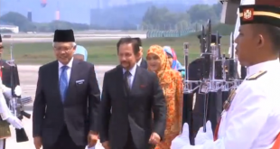 Brunei PM arrives in Malaysia for ASEAN meeting