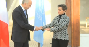 France hands over climate conference venue to UN