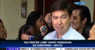 "Recto asks government to fund ""saltwater lamp"""