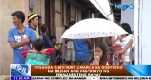 Yolanda survivors umapila sa gobyerno na bilisan ang pagtatayo ng permanenteng bahay