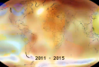 Graphic representation of Earth with temperature changes in 2015.  The U.N.'s World Meteorological Organization confirms that 2015 was hottest year on record, as part of a longer-term trend. (Photo grabbed from Reuters video)