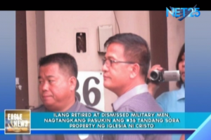 File of screen shot photo when former military Capt. Nicanor Faeldon tried to enter the INC compound at no. 36 Tandang Sora Avenue in Quezon City. (Eagle News Service)