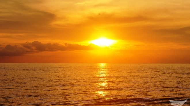 Sunset from Tibpuan Bay, Lebak, Sultan Kudarat