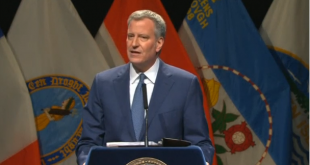 NYC mayor says city becoming less divided in speech