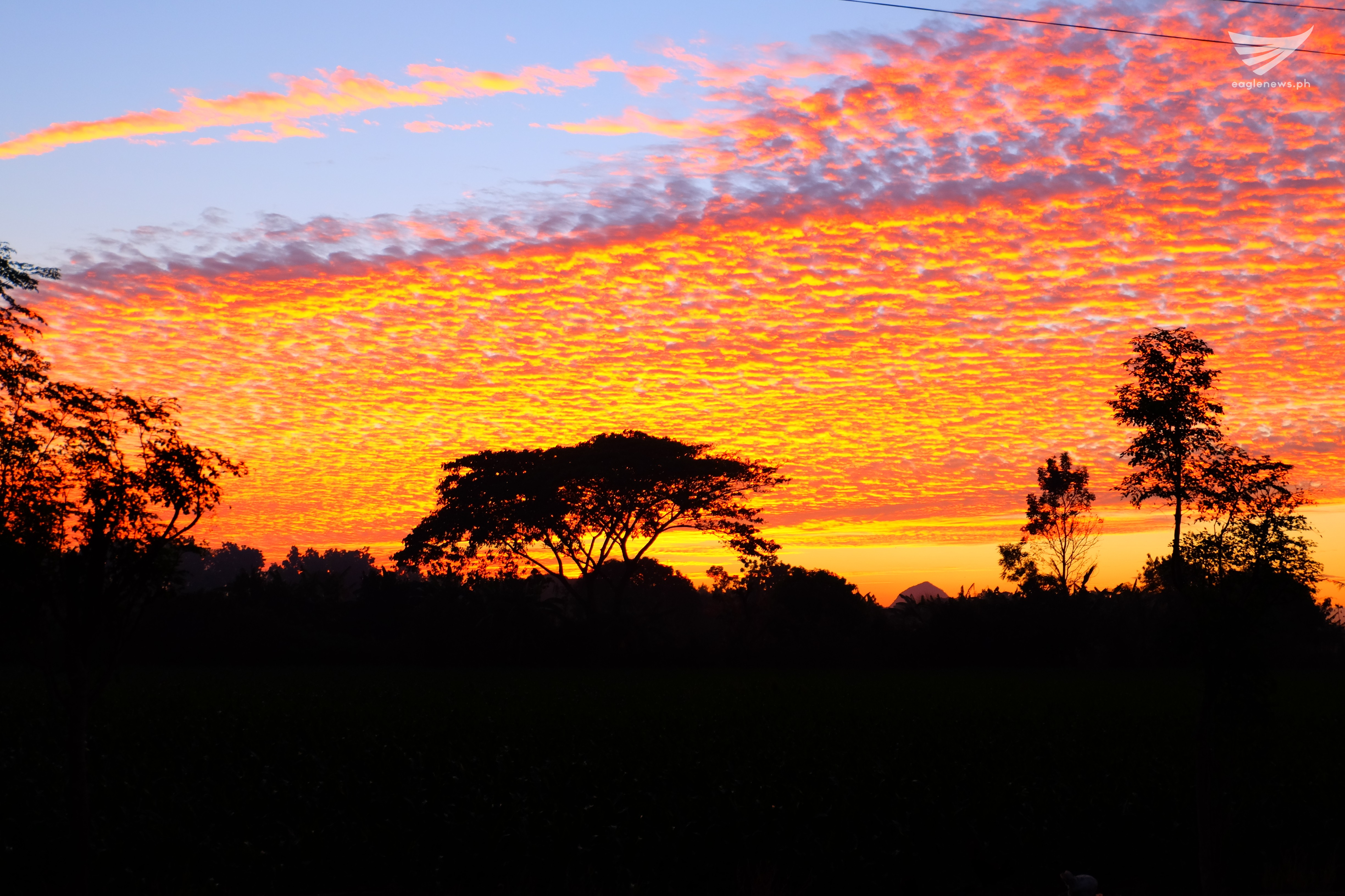 Mesmerizing sky in Pangasinan East at sunset by Raff Marquez  (Eagle News Service)