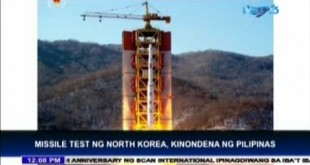Philippines condemns North Korea's missile test
