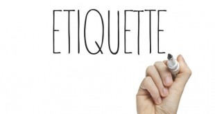Simple etiquette we should all remember