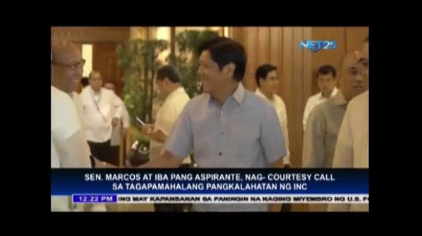 Senator Ferdinand Marcos, Jr. pays courtesy call to Bro. Eduardo V. Manalo