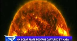 4K solar flare footage captured by NASA