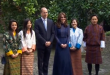Prince William and Kate welcome Bhutanese and Indians living the Britain to their home, ahead of their trip to Asia.(photo grabbed from Reuters video)