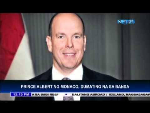 Prince Albert of Monaco visits Philippines