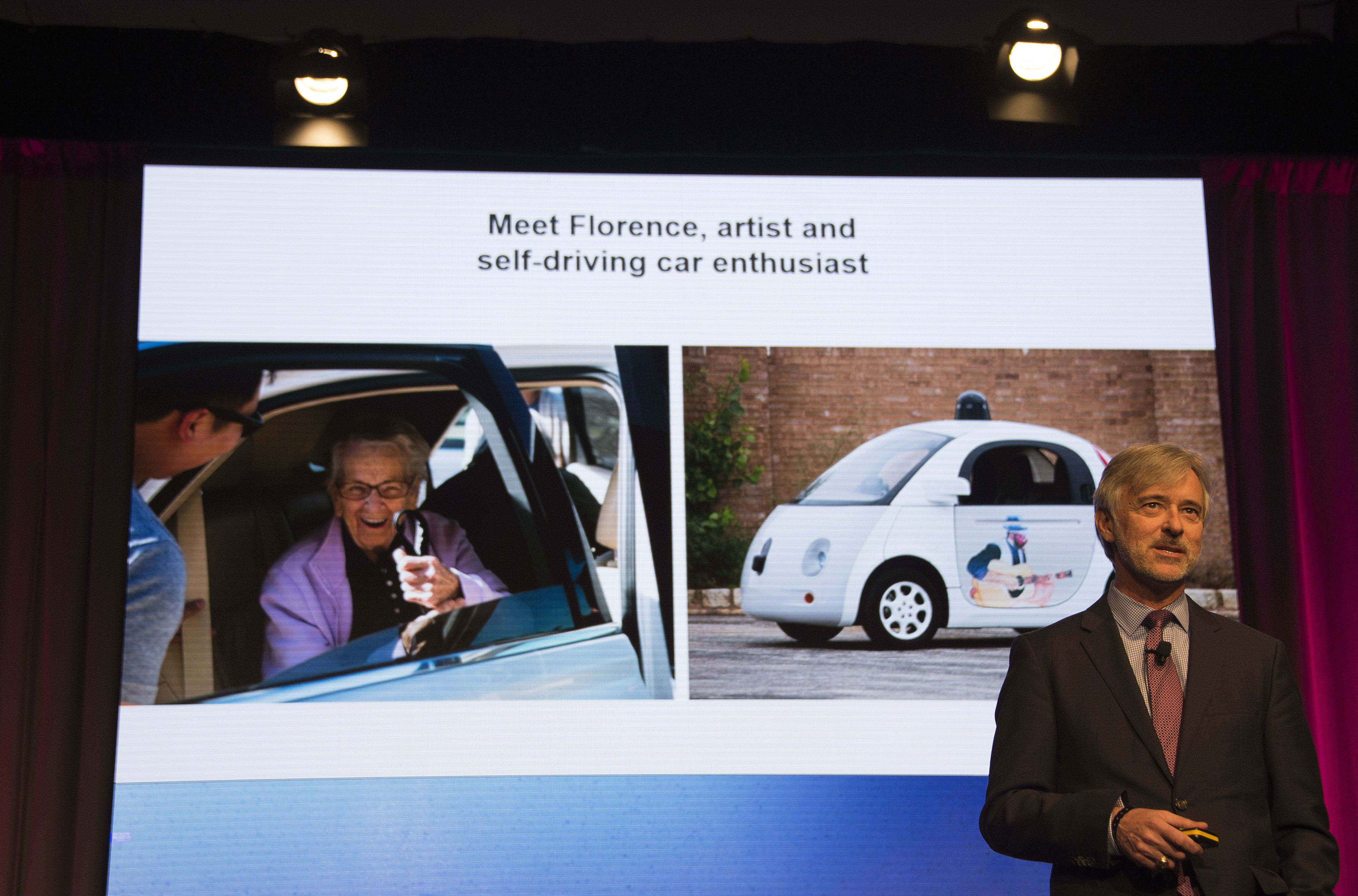 Google , Inc., Self Driving Car Project CEO John Krafcik speaks at the Automotive News World Congress in Detroit, Michigan, January 12, 2016.   AFP PHOTO / JIM WATSON / AFP PHOTO / JIM WATSON