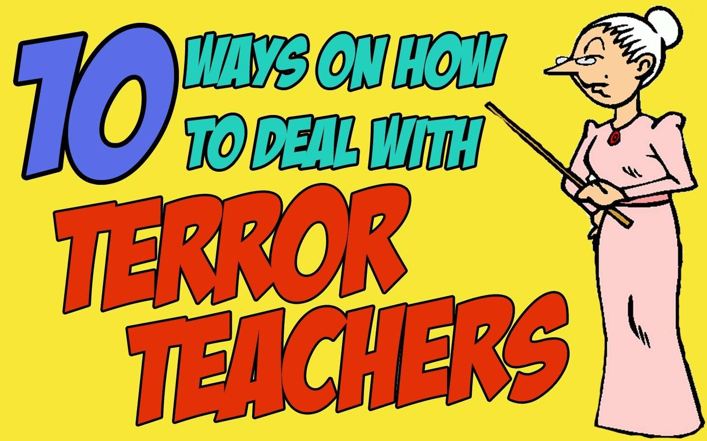 terror teachers and the students Teachers need to help students build positive memories if our leaders won't provide them with common positive memories, let's at least create them on a school or.