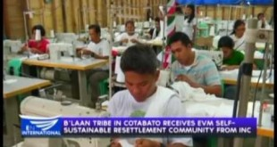 B'laan Tribe in Cotabato receives EVM Self-sustainable Resettlement Community from Iglesia Ni Cristo