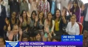 United Kingdom: #INCReconnect – Worldwide Intensive Propagation – Vee Sison reports