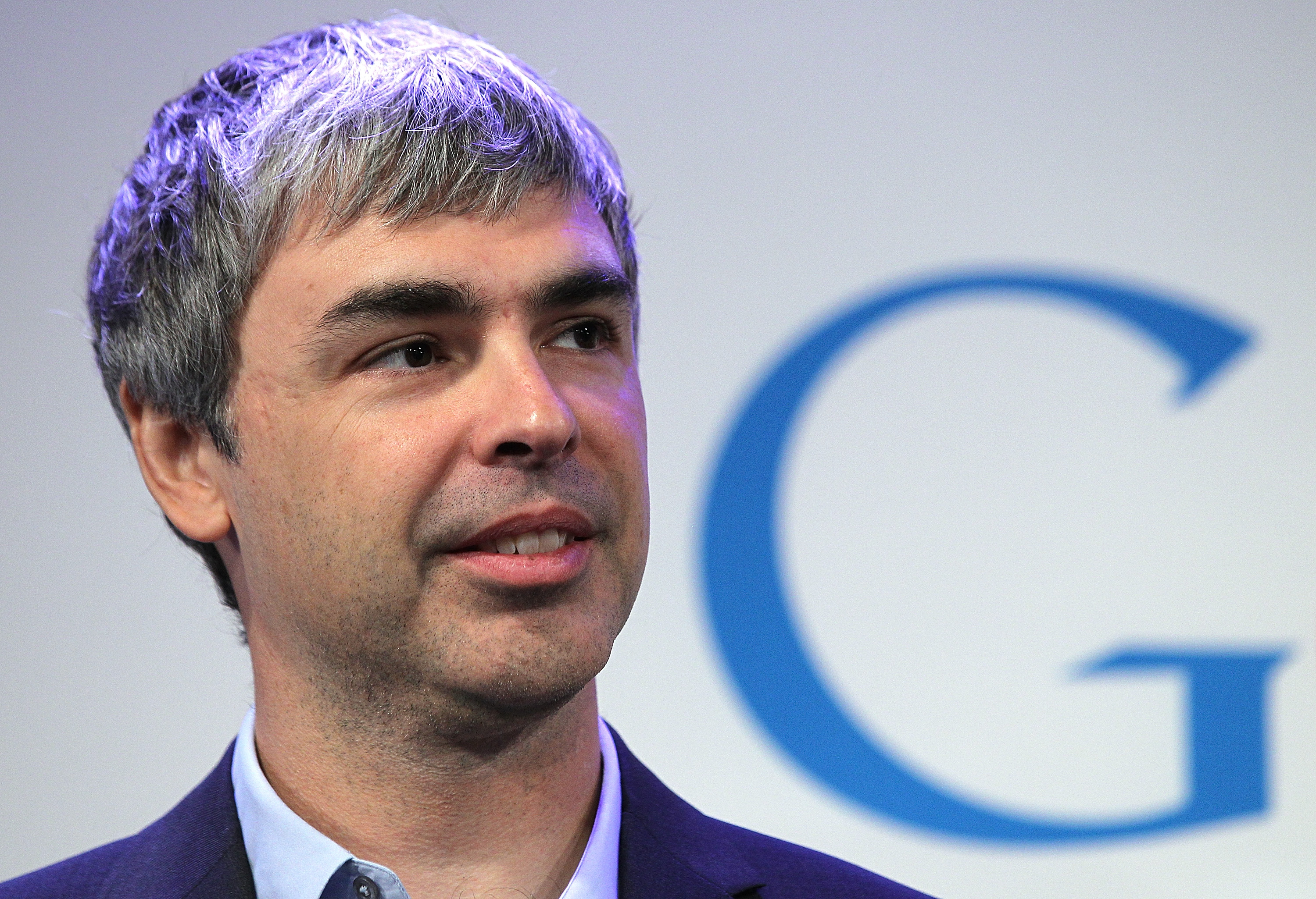 NEW YORK, NY - MAY 21: Google co-founder and CEO Larry Page speaks during a news conference at the Google offices on May 21, 2012 in New York City. Google announced today that it will allocate 22,000 square feet of space in its New York headquarters to CornellNYC Tech while the university completes its new campus on Roosevelt Island.   Justin Sullivan/Getty Images/AFP