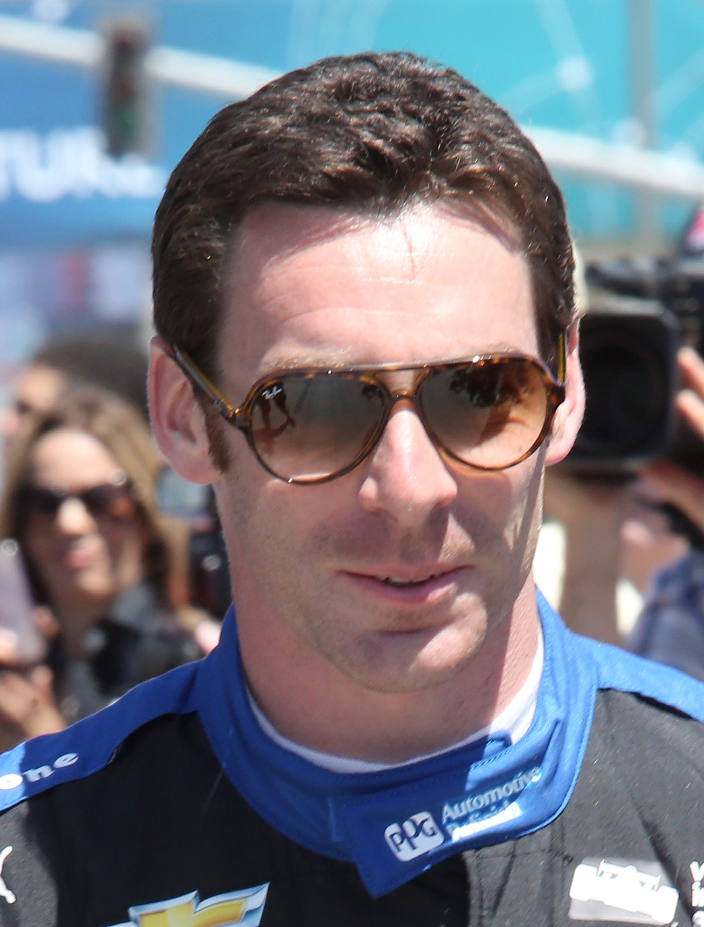 LONG BEACH, CA - APRIL 17: Simon Pagenaud is the winner of the 42nd Toyota Grand Prix of Long Beach on April 17, 2016 in Long Beach, California.   Frederick M. Brown/Getty Images/AFP