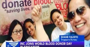 Iglesia Ni Cristo joins World Blood Donor Day in Singapore