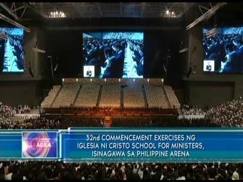 32nd commencement exercises of INC ministerial students held at the Philippine Arena