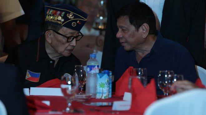 President Duterte and former President FVR at the San Beda alumni reception