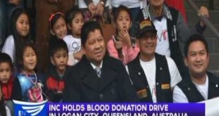 INC holds blood donation drive in Logan City, Queensland, Australia