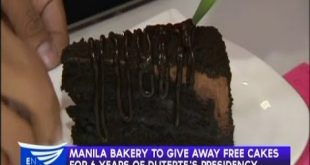 Manila Bakery to give away free cakes for 6 years of Duterte's presidency