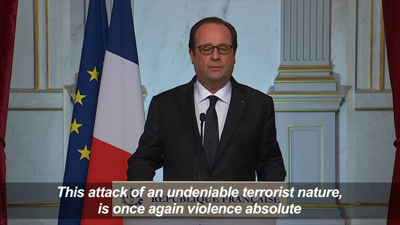 Nice attack clearly of 'terrorist nature': Hollande