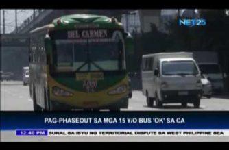 Pag-phaseout sa mga lumang bus inayunan ng CA