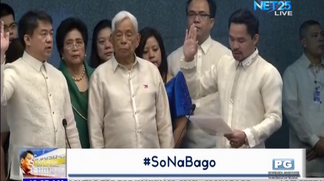 Senator Koko Pimentel sworn in as Senate President